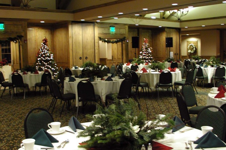 Christmas party banquet at the Manor at Pinehurst Farms